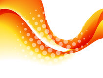 Abstract curved lines background. Template brochure design Stock Photo