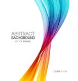 Abstract curved lines background. Template Royalty Free Stock Images
