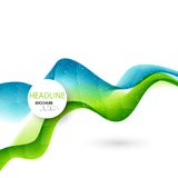 Abstract curved lines background. Template Royalty Free Stock Photo