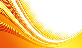 Abstract curved lines background. Template Royalty Free Stock Photography