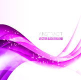 Abstract curved lines background. Stock Image