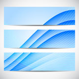 Abstract curved lines on blue background. Vector illustration Royalty Free Stock Images