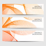 Abstract curved lines on bright background Stock Images