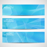Abstract curved lines on bright background Stock Photography
