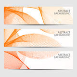 Abstract curved lines on bright background Royalty Free Stock Image