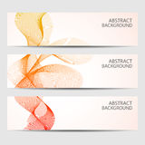 Abstract curved lines on bright background Vector illustration Stock Photo