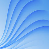 Abstract curved lines on bright background Vector illustration Royalty Free Stock Photo