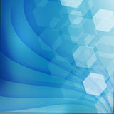 Abstract curved lines on bright background Vector illustration Royalty Free Stock Image