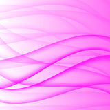 Abstract curved lines on bright background Vector illustration Stock Photos