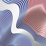 Abstract curved lines in the form of waves. Modern background. Relief zigzags. Royalty Free Stock Photo