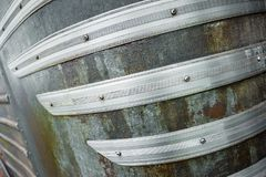 Curved metal strip abstract Royalty Free Stock Photo