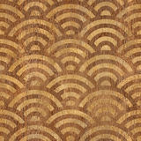 Abstract curved pattern - seamless background - wooden texture Stock Image