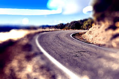 Abstract curved road.Travel car concept. Stock Photo