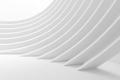 Abstract Curved Shapes. 3d Rendering of Minimalistic Wallpaper. White Architecture Circular Background. Modern Building Design. Abstract Curved Shapes. 3d Stock Photo