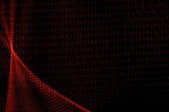 Abstract curved shapes of red color on black background stock illustration