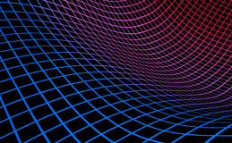 Abstract curved surface. An illustration of a curved colorful mesh surface Stock Photo