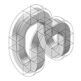 Abstract curved vector shape. Isometric brand of scientific institution, research center, biological laboratories. Stock Photos