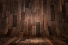 Abstract curved wooden floor background Stock Photos