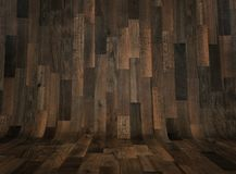 Abstract curved wooden floor background Stock Photography