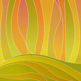 Abstract curves background. In warm colors Stock Photography