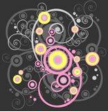 Abstract curves background Stock Photos