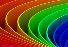 Abstract Curves Background. Computer generated image Stock Image