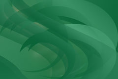 Abstract Curves and in Green Stock Photo