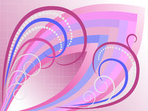 Abstract curves in light purple plaid background.B Stock Photo