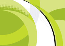 Abstract curves and lines. With green background stock illustration