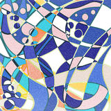 Abstract curves pattern in retro colors Stock Photo