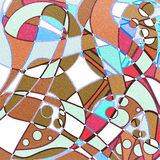 Abstract curves pattern retro print Royalty Free Stock Photos
