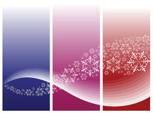 Abstract curves & snowflakes Royalty Free Stock Photo