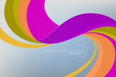 Abstract Curvy Colors Concepts Vector Royalty Free Stock Images