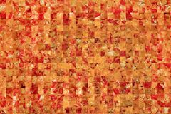 Abstract cut fragments of appetizing pizza Royalty Free Stock Images
