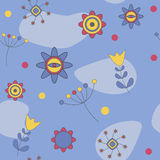 Abstract Cute Background Flower Seamless Pattern Stock Photo