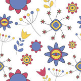 Abstract Cute Background Flower Seamless Pattern Royalty Free Stock Photo