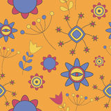 Abstract Cute Background Flower Seamless Pattern Royalty Free Stock Images