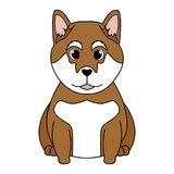 Abstract cute dog. On a white background royalty free illustration