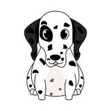 Abstract cute dog. On a white background vector illustration