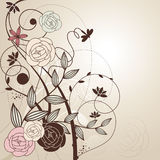 Abstract cute floral background Stock Images