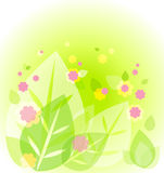 Abstract cute green background Stock Images