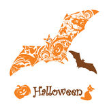 Abstract cute halloween bat Royalty Free Stock Image