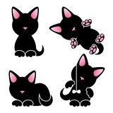 Abstract cute kitten vector set Royalty Free Stock Image