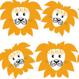 Abstract cute lions seamless pattern and seamless pattern in s. Watch menu, vector image vector illustration