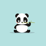 Abstract cute panda. On a blue background vector illustration