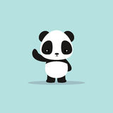 Abstract cute panda. On a blue background royalty free illustration
