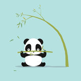 Abstract cute panda. On a blue background stock illustration