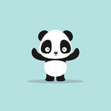 Abstract cute panda Stock Photos
