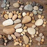 Abstract cute pebbles, footprint from boulder Stock Photography