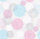 Abstract cute seamless polka dot circle background
